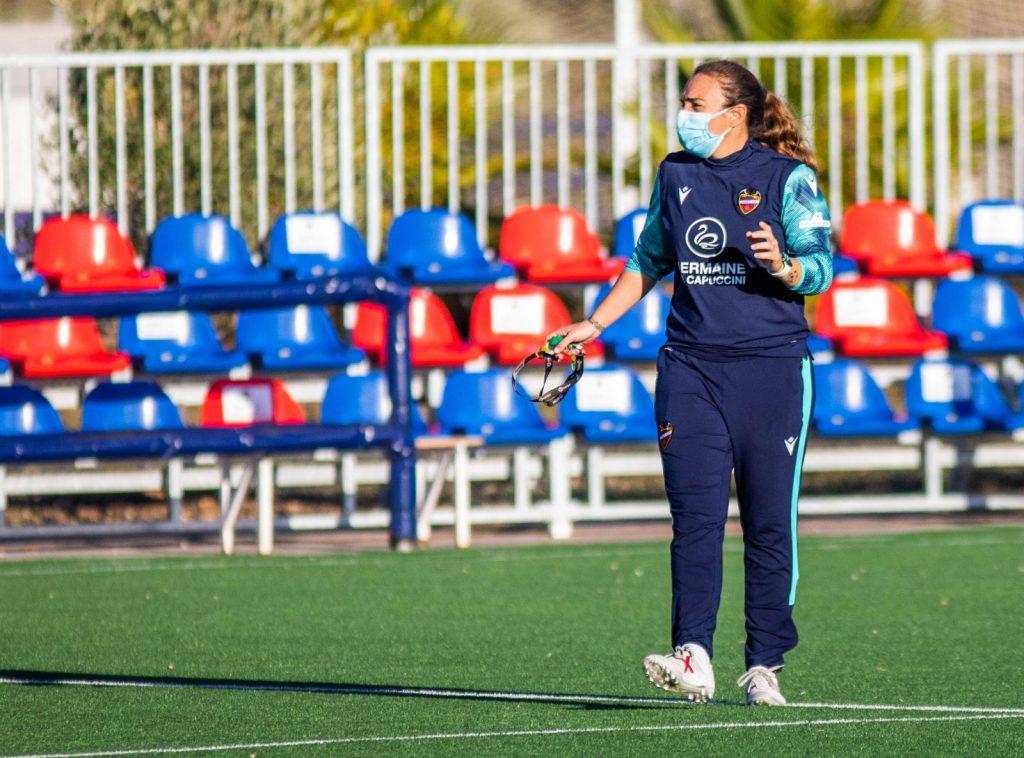 María Pry, durante un entrenamiento. / Foto: Levante UD